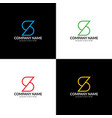 letter s logo icon flat vector image
