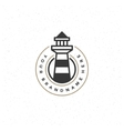 Lighthouse Design Element in Vintage Style for vector image vector image