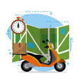 mail delivery service vector image vector image