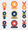 Medal flat icons set vector image vector image