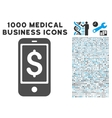 Mobile Balance Icon with 1000 Medical Business vector image vector image