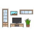 Modern living room interior vector image