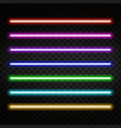 neon light colorful neon tubes isolated on vector image vector image