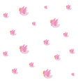 pink doves bird background vector image