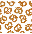 pretzels seamless pattern white vector image