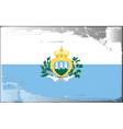 San Marino national flag vector image