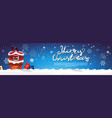 santa claus stack in chimney merry christmas and vector image