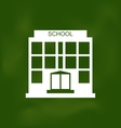 School Building Painted with Chalk on Blackboard vector image vector image