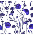 seamless background with wildflowers vector image vector image