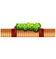 Seamless fence design with flowers vector image