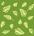 seamless pattern of yellow leaves monstera vector image vector image