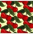 Seamless texture - bright juicy fresh cherry fruit vector image