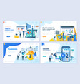 set landing page template header vector image