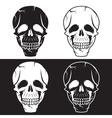 set skulls design template vector image vector image