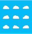 set white clouds with shadow vector image vector image