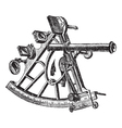 Sextant vintage engraving vector image vector image
