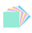stack empty square paper notes vector image vector image
