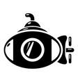 submarine icon simple black style vector image vector image