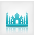 Taj Mahal on white background vector image