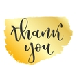 Thank you greeting vector image vector image