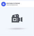 video icon filled flat sign solid vector image vector image