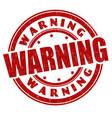 warning grunge rubber stamp vector image vector image