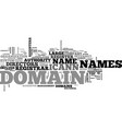 who registers domain names text word cloud concept vector image vector image