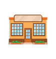 cafe shop or restaurant facade front view of vector image