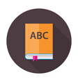 English Lesson Book Flat Circle Icon vector image