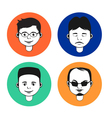 Set of male avatar icons vector image