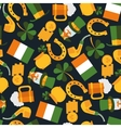 dark seamless pattern of Saint Patrick vector image