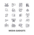 media gadgets newspaper news press social vector image
