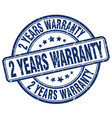 2 years warranty vector image vector image