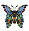 beautiful colorful butterfly vintage concept vector image vector image