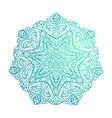 beautiful mandala decorative element vector image vector image