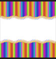 border made of multicolored wooden pencils on vector image vector image