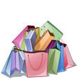 bunch of shop packs vector image