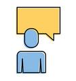 businessman and speak bubble talk message vector image vector image