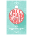Christmas card in retro style Flat design vector image vector image