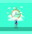 chronometer timer with businessman vector image vector image