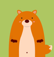 cute fat big fox vector image vector image