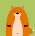 cute fat big fox vector image vector image