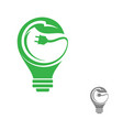 eco green bulb electrical vector image vector image
