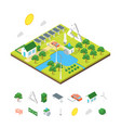 ecology green energy consumption and elements vector image