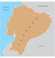 ecuador region map vector image vector image