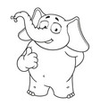 elephant character he raised a finger like vector image vector image