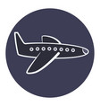 flat cartoon plane icon airplane symbol vector image vector image