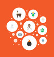 flat icons mythology monster evil and other vector image vector image