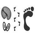 Footprint vector image vector image