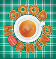 good morning of cookies and a cup of tea vector image vector image